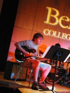 Kevin performing at the Berklee School of Music